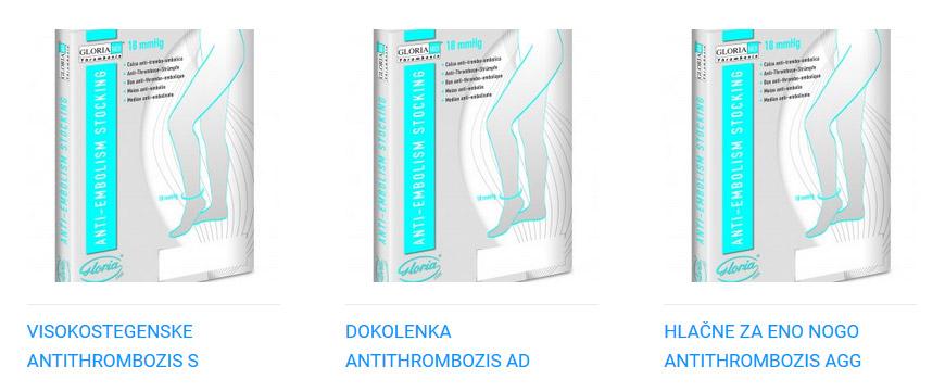 Antitrombozis kompresijske nogavice