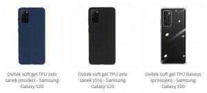 Ovitki Soft gel TPU za Samsung Galaxy S20
