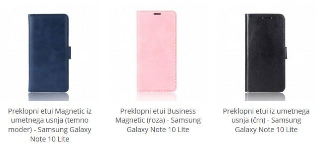 Preklopni etuiji za Samsung Galaxy Note 10 Lite